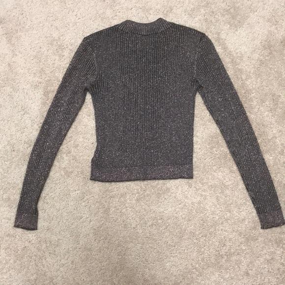 Cropped glitter sweater